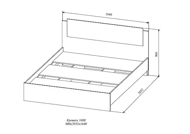 Кровать двуспальная София белый глянец 160 см фото 3 | интернет-магазин Складно