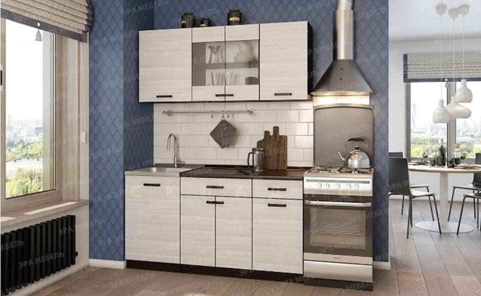 Кухонный гарнитур Мальва 1,5 м фото 1   интернет-магазин Складно