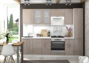 Кухонный гарнитур Шарлотта капучино 2,7 м фото | интернет-магазин Складно