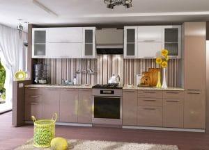 Кухонный гарнитур Шарлотта капучино с белым 3,0 м фото | интернет-магазин Складно