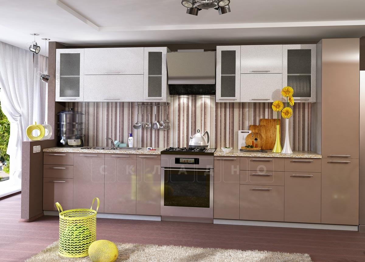 Кухонный гарнитур Шарлотта капучино с белым 3,0 м фото 1 | интернет-магазин Складно