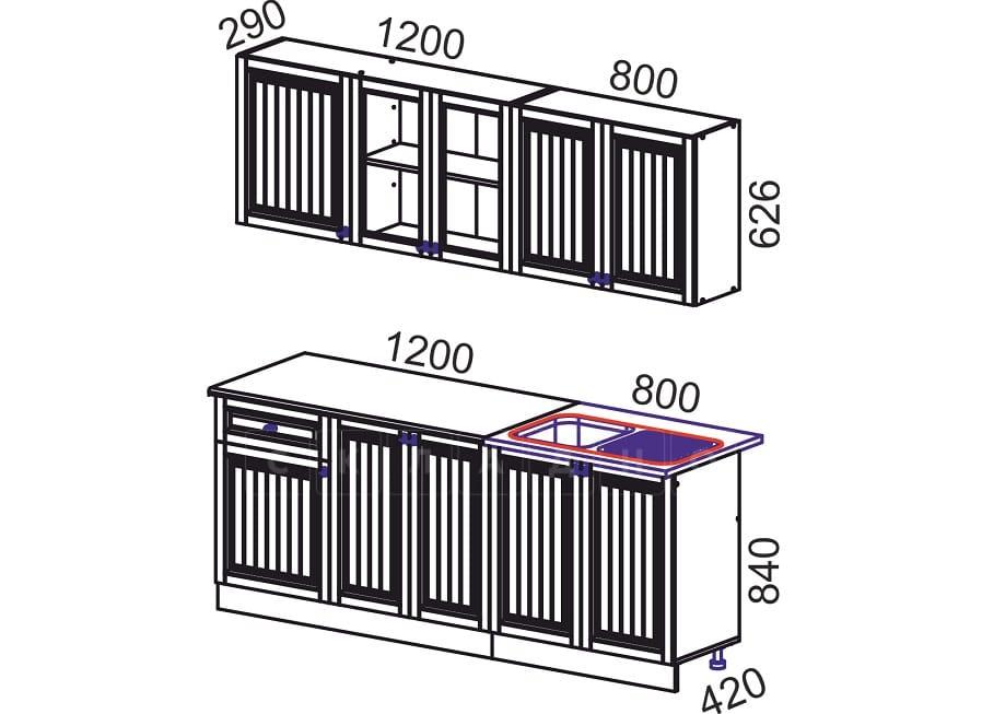 Кухонный гарнитур Хозяйка 2,0 м фото 10 | интернет-магазин Складно