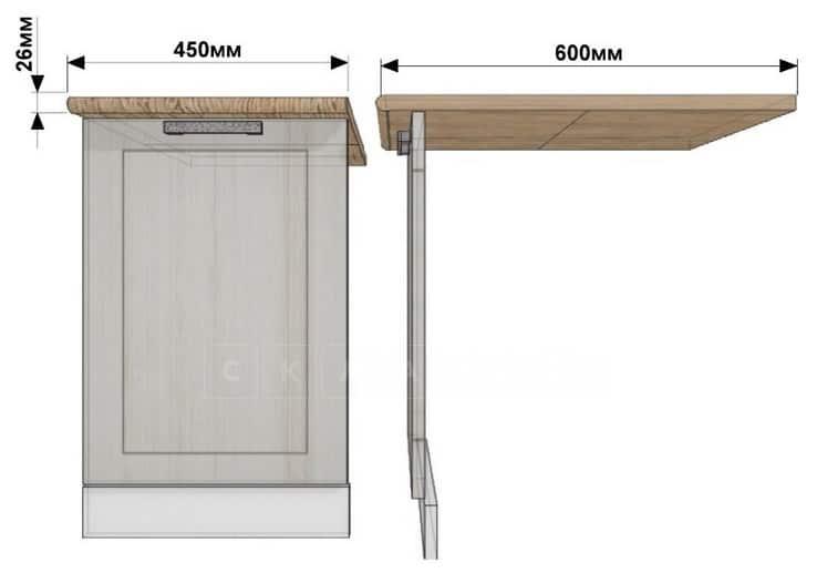 Кухонный шкаф под встраиваемую посудомоечную машину Лофт ШПМ45 фото 1 | интернет-магазин Складно