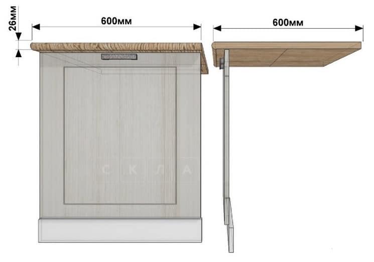 Кухонный шкаф под встраиваемую посудомоечную машину Лофт ШПМ60 фото 1 | интернет-магазин Складно
