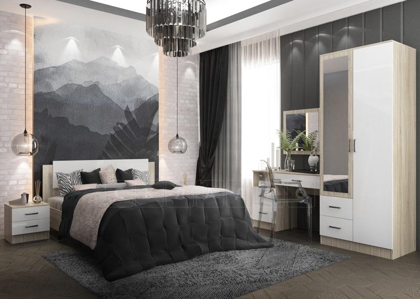 Спальный гарнитур София белый глянец вариант 1 фото | интернет-магазин Складно