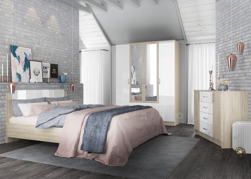 Спальный гарнитур София белый глянец вариант 5 фото 1 | интернет-магазин Складно