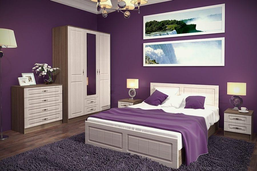 Спальный гарнитур Нимфа вариант 8 фото | интернет-магазин Складно