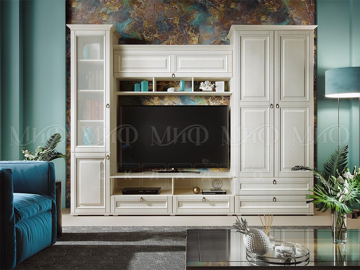 Стенка Престиж — 1 со шкафом и стеклянным пеналом фото 1 | интернет-магазин Складно