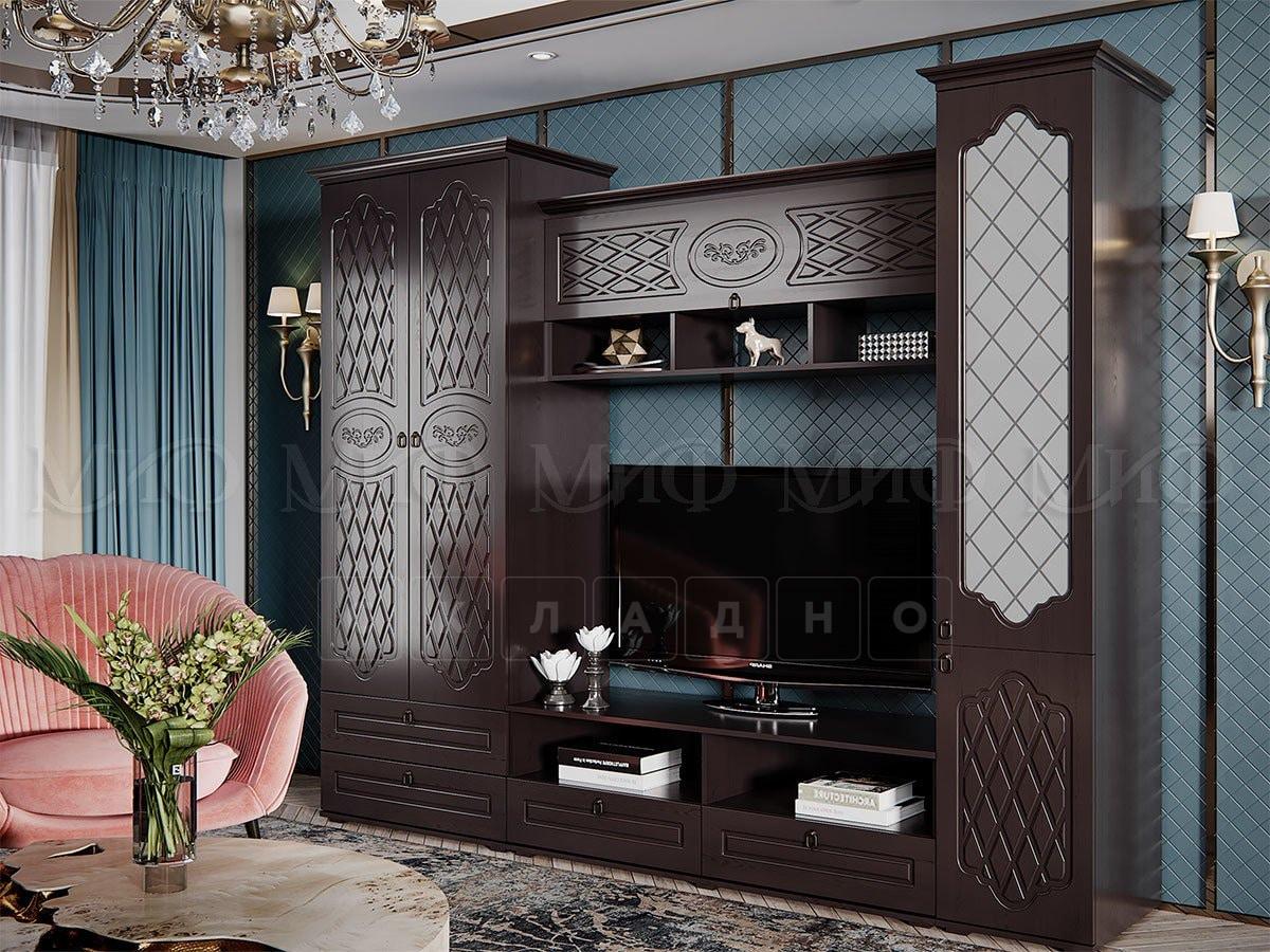 Стенка Престиж со шкафом и стеклянным пеналом фото 2 | интернет-магазин Складно