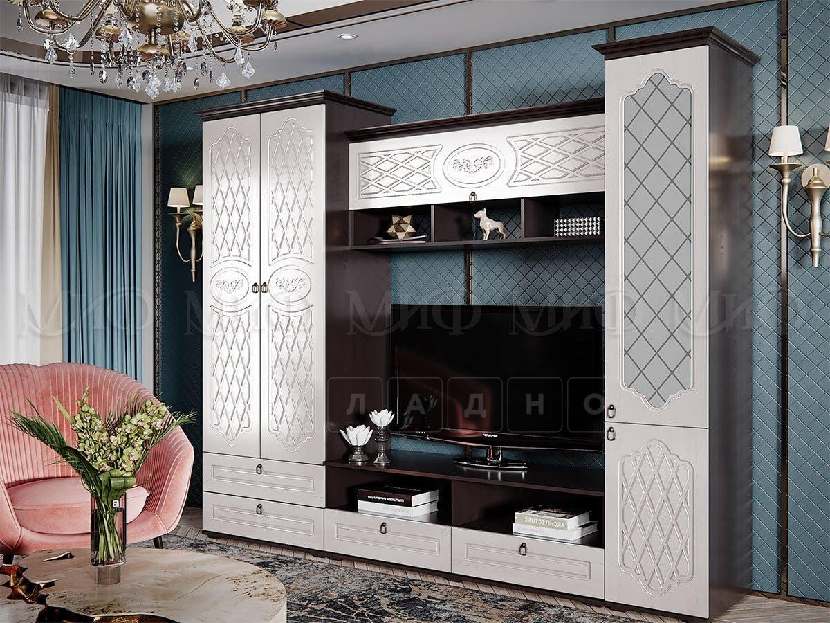 Стенка Престиж со шкафом и стеклянным пеналом фото 1 | интернет-магазин Складно