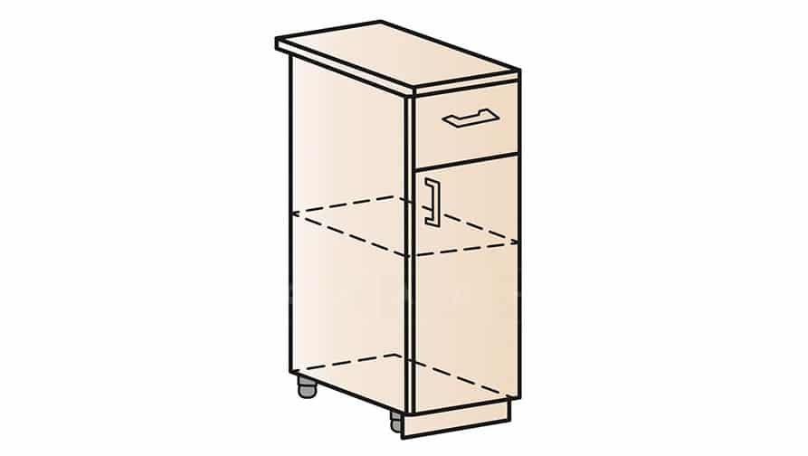 Кухонный шкаф напольный Модена ШН1Я30 с ящиком фото 1 | интернет-магазин Складно