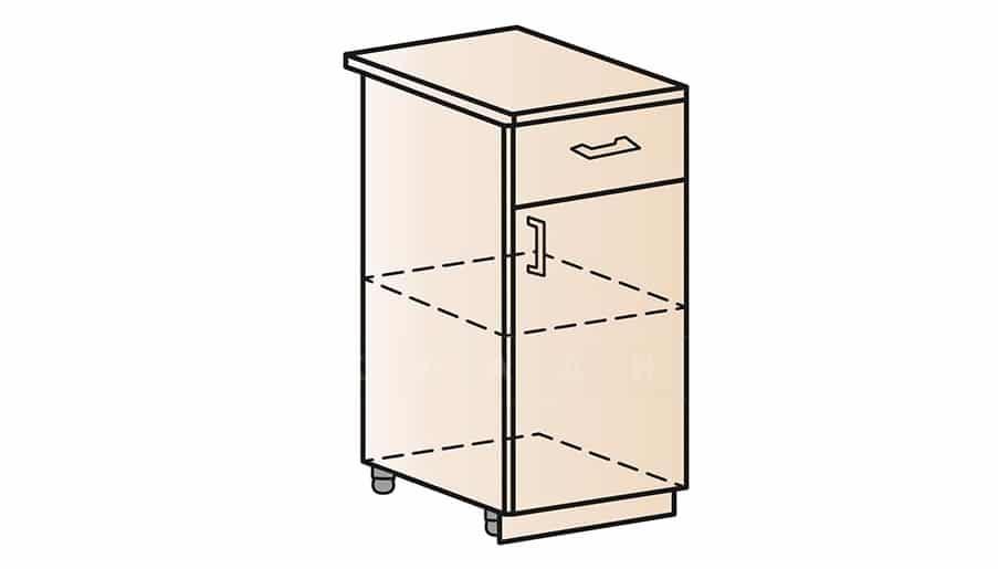 Кухонный шкаф напольный Модена ШН1Я40 с ящиком фото 1 | интернет-магазин Складно
