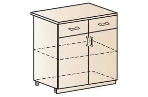 Кухонный шкаф напольный Модена ШН2Я2С80 с 2 ящиками и 2 створками  6510  рублей, фото 1 | интернет-магазин Складно