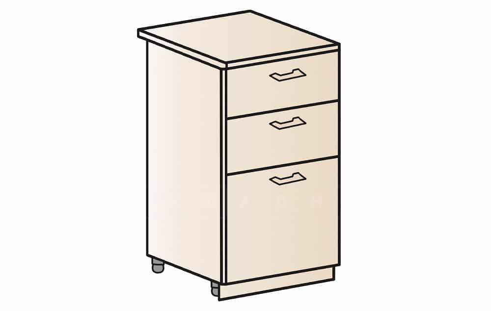 Кухонный шкаф напольный Модена ШН3Я40 с 3 ящиками фото 1 | интернет-магазин Складно
