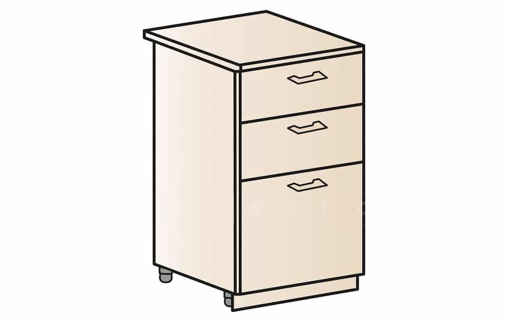 Кухонный шкаф напольный Модена ШН3Я50 с 3 ящиками фото 1 | интернет-магазин Складно