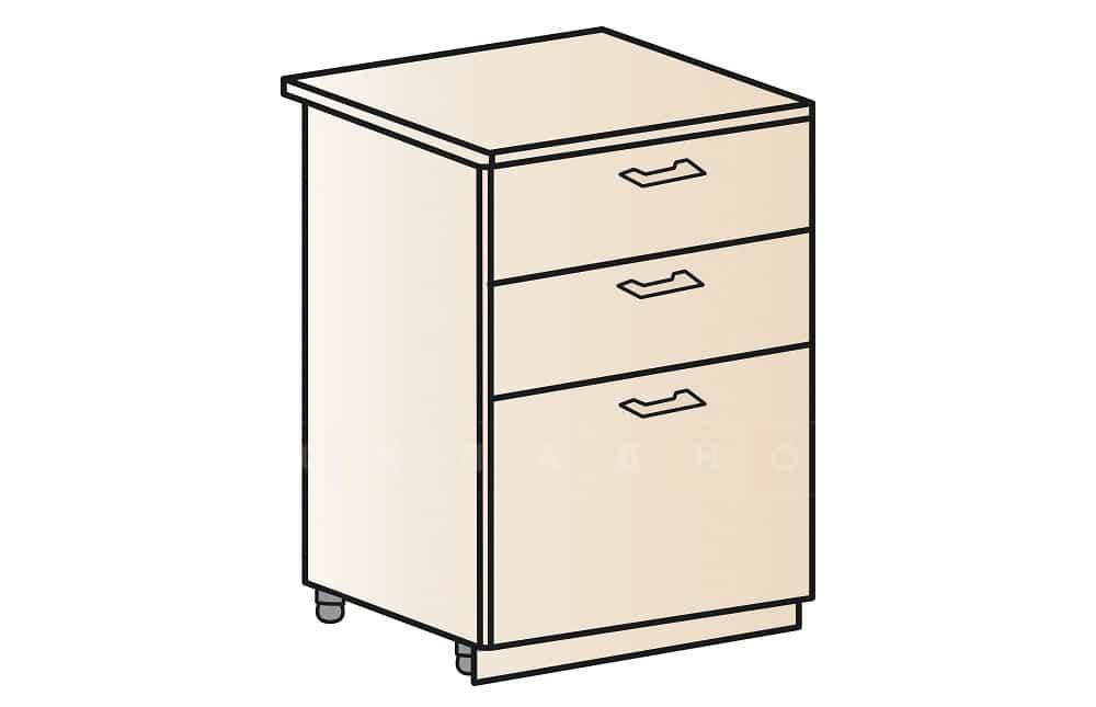 Кухонный шкаф напольный Модена ШН3Я60 с 3 ящиками фото 1 | интернет-магазин Складно