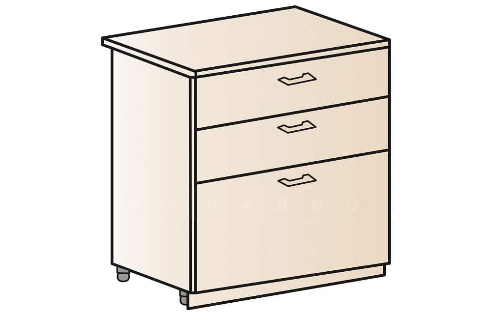 Кухонный шкаф напольный Модена ШН3Я80 с 3 ящиками фото 1 | интернет-магазин Складно