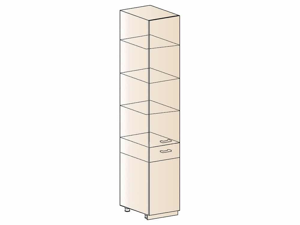 Кухонный напольный пенал Модена ШП1Я40 с 1 ящиком фото 1 | интернет-магазин Складно
