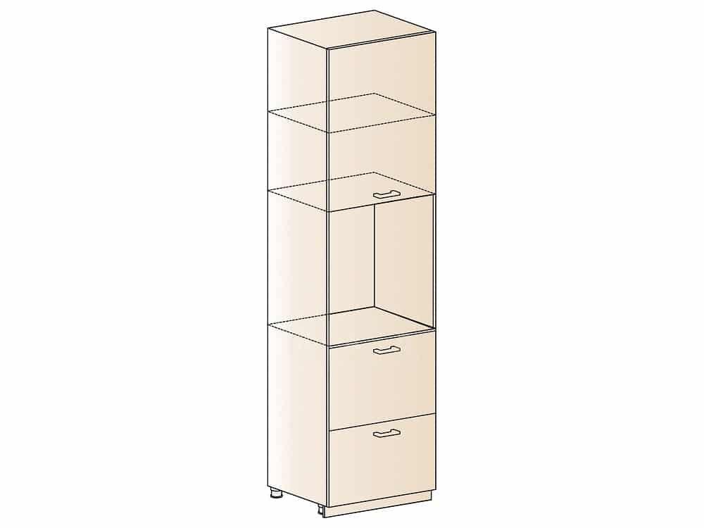 Кухонный напольный шкаф-пенал Модена ШП2Я60 с 2 ящиками фото 1 | интернет-магазин Складно