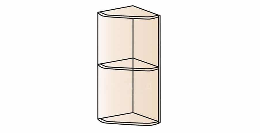 Кухонный навесной шкаф торцевой открытый Модена ШВПУ30 фото 1 | интернет-магазин Складно