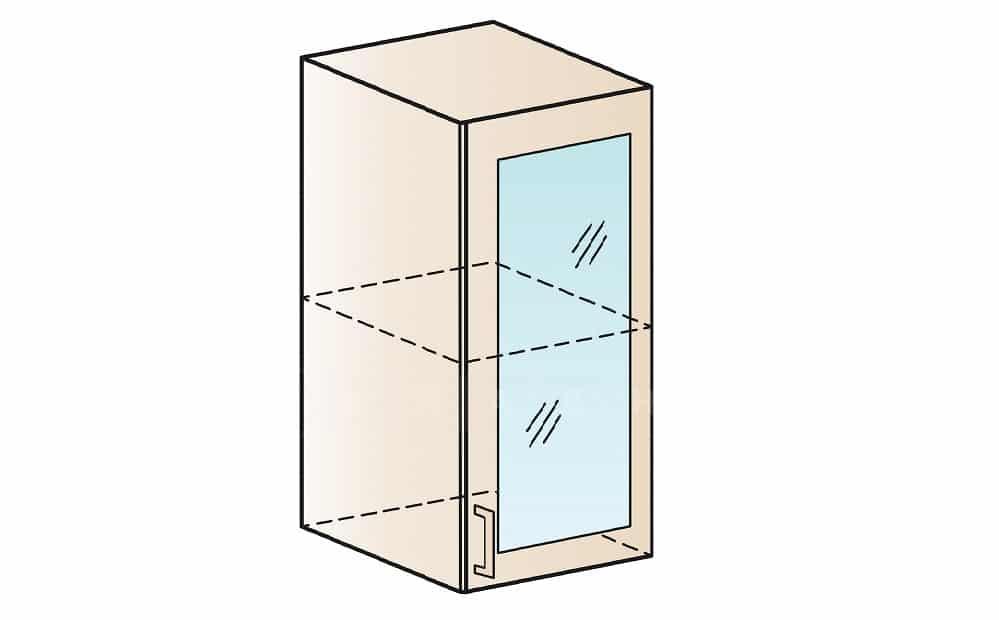 Кухонный навесной шкаф со стеклом Модена ШВС30 фото 1 | интернет-магазин Складно