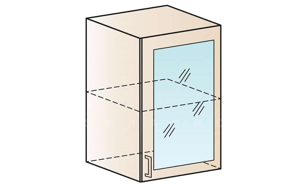 Кухонный навесной шкаф со стеклом Модена ШВС50 фото 1 | интернет-магазин Складно