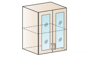 Кухонный навесной шкаф со стеклом Модена ШВС60  3430  рублей, фото 1 | интернет-магазин Складно