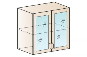 Кухонный навесной шкаф со стеклом Модена ШВС80  4290  рублей, фото 1 | интернет-магазин Складно