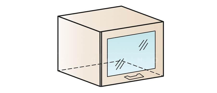 Кухонный навесной шкаф газовка со стеклом Модена ШВГС50 фото 1 | интернет-магазин Складно