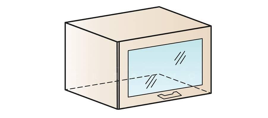Кухонный навесной шкаф газовка со стеклом Модена ШВГС60 фото 1 | интернет-магазин Складно