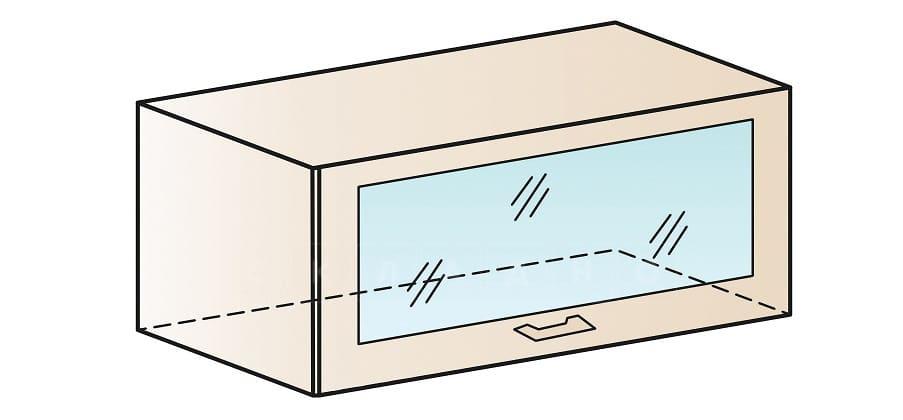 Кухонный навесной шкаф газовка со стеклом Модена ШВГС80 фото 1 | интернет-магазин Складно