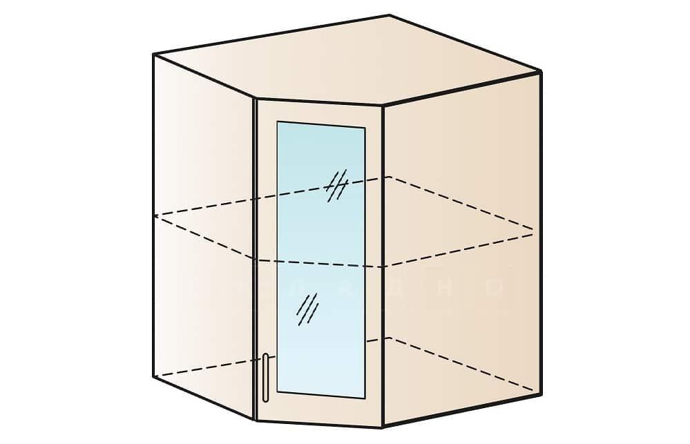 Кухонный навесной шкаф угловой со стеклом Модена ШВУС50 фото 1 | интернет-магазин Складно