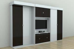 Подъемная кровать трансформер 140 см со шкафами серии Alians фото 2 | интернет-магазин Складно