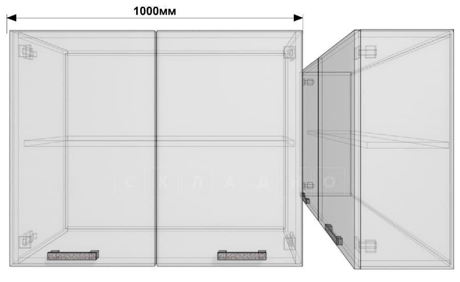 Кухонный навесной шкаф Гинза ШВ100 фото 1 | интернет-магазин Складно