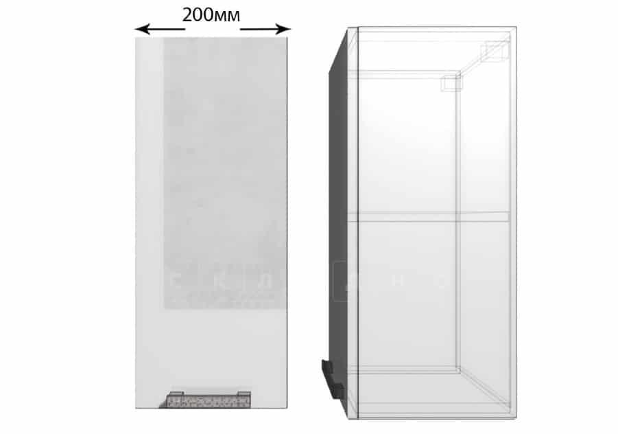 Кухонный навесной шкаф Гинза ШВ20 фото 1 | интернет-магазин Складно