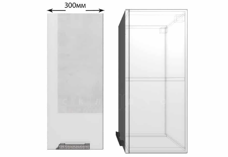 Кухонный навесной шкаф Гинза ШВ30 фото 1 | интернет-магазин Складно