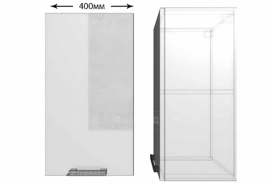 Кухонный навесной шкаф Гинза ШВ40 фото 1 | интернет-магазин Складно