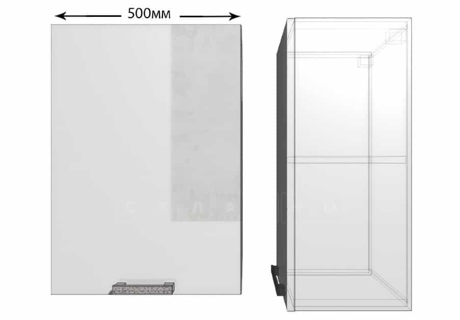 Кухонный навесной шкаф Гинза ШВ50 фото 1 | интернет-магазин Складно