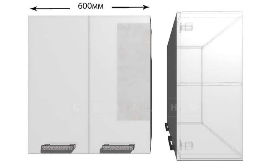 Кухонный навесной шкаф Гинза ШВ60 фото 1 | интернет-магазин Складно