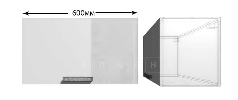 Кухонный навесной шкаф газовка Гинза ШВГ60 фото 1 | интернет-магазин Складно
