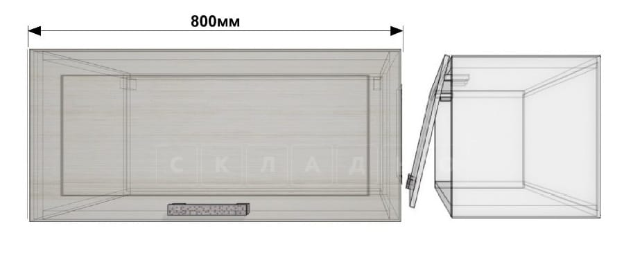 Кухонный навесной шкаф газовка Гинза ШВГ80 фото 1 | интернет-магазин Складно