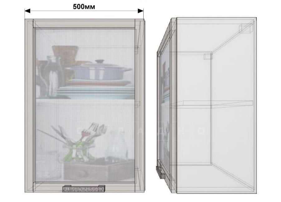 Кухонный навесной шкаф со стеклом Гинза ШВС50 фото 1 | интернет-магазин Складно