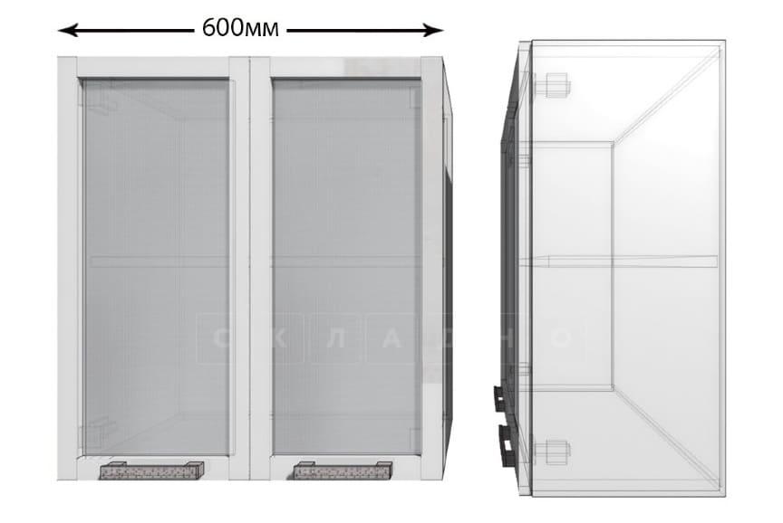 Кухонный навесной шкаф со стеклом Гинза ШВС60 фото 1 | интернет-магазин Складно