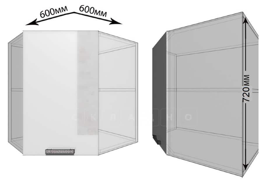 Кухонный навесной шкаф угловой Гинза ШВУ60 фото 1 | интернет-магазин Складно