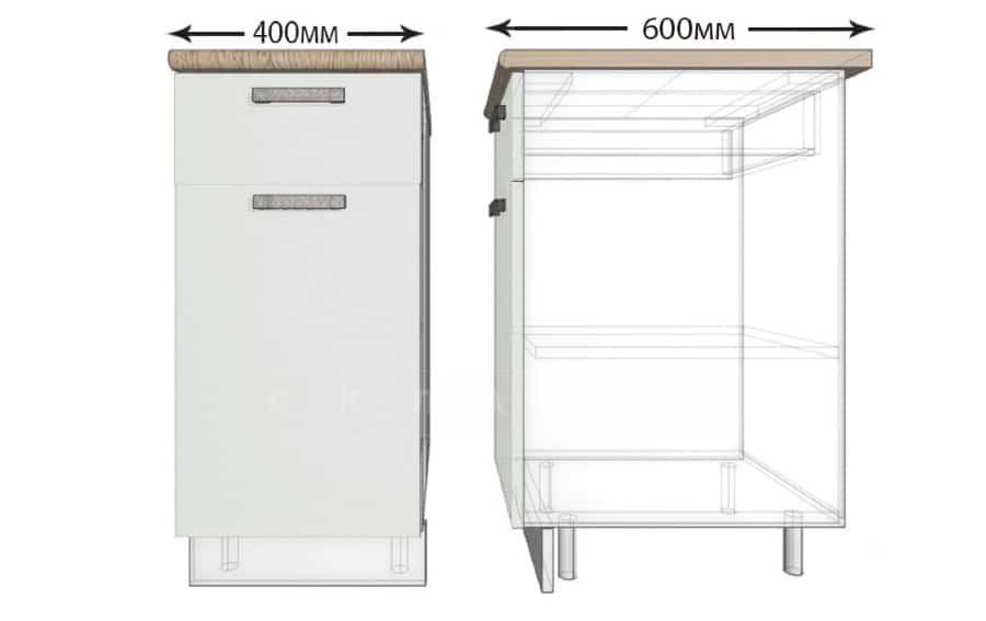 Кухонный шкаф напольный Гинза ШН1Я40 с 1 ящиком фото 1 | интернет-магазин Складно