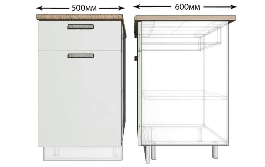 Кухонный шкаф напольный Гинза ШН1Я50 с 1 ящиком фото 1 | интернет-магазин Складно