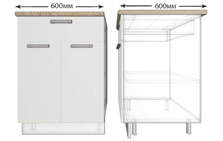 Кухонный шкаф напольный Гинза ШН1Я60 с 1 ящиком фото 1 | интернет-магазин Складно