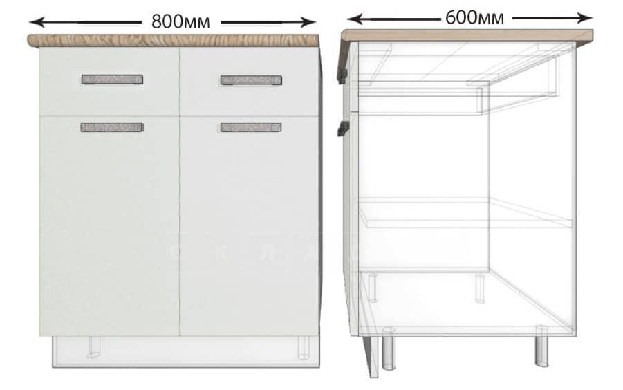 Кухонный шкаф напольный Гинза ШН2Я2С80 с 2 ящиками и 2 створками фото 1 | интернет-магазин Складно