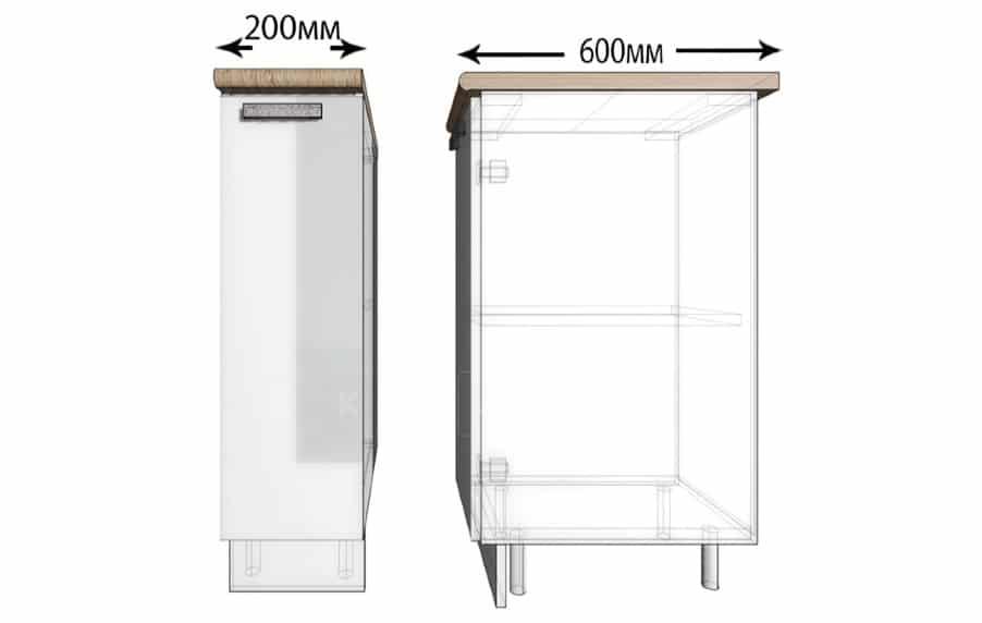 Кухонный шкаф напольный Гинза ШН20 фото 1 | интернет-магазин Складно