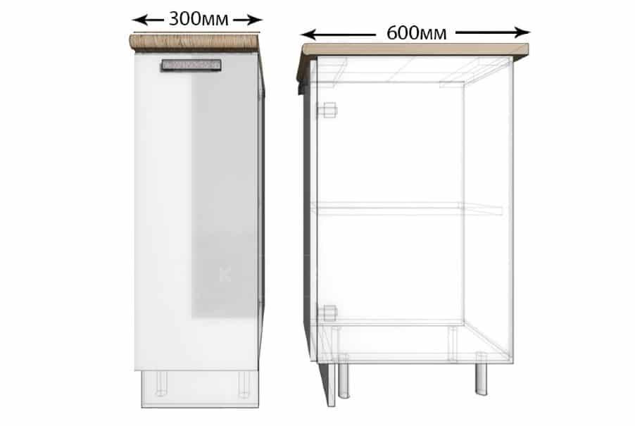 Кухонный шкаф напольный Гинза ШН30 фото 1 | интернет-магазин Складно